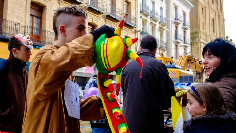 party street, people, huesca