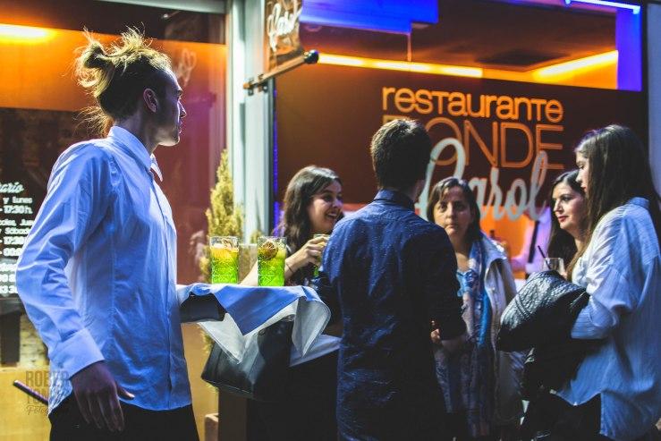 Fotos de la carta, inauguracion de terraza y de equipo del restaurante Donde Carol en Zaragoza