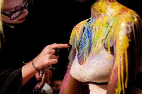 Body painting Graftobian en Zaragoza con De Maria y Jose Luis Blasco por Rober Tomas